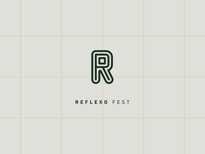 Reflexo typography icon flat design logo brand branding