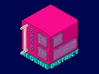 Redline district design art illustrator isometric art isometric isometric illustration illustration