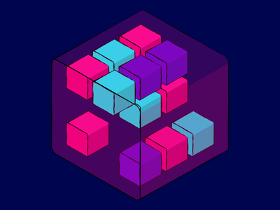 cubes 🧊 shape cubes rubix cube purple geometric design geometric art geometry isometric art wacom isometric illustration colorful design vector adobe illustrator minimalist minimalism boxes cube design art illustration