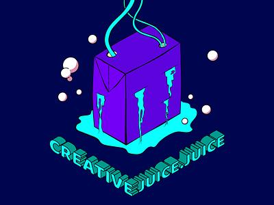 creative juice purple logo creative juice purple isometric illustration wacom isometric art graphic design design vector adobe illustrator illustrator design art illustration