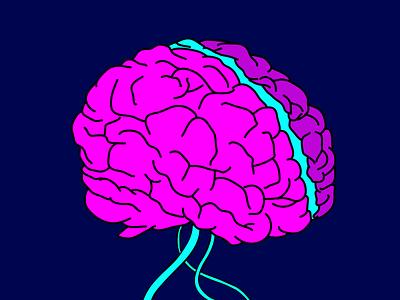 brain 🧠 brainstorming juice pink artwork art creative brain wacom colorful isometric art graphic design design vector illustrator design art illustration