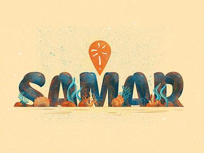 Samar Under typography design illustration vector