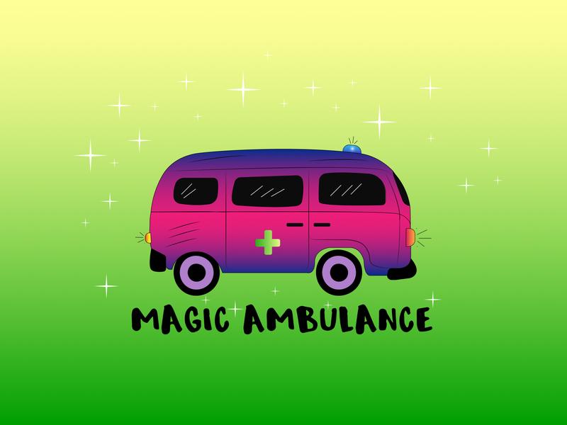 Magic Ambulance logo brand design branding web vector illustration design identity logo