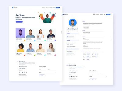 IdeaInYou - Team page site corporate design web ux ui