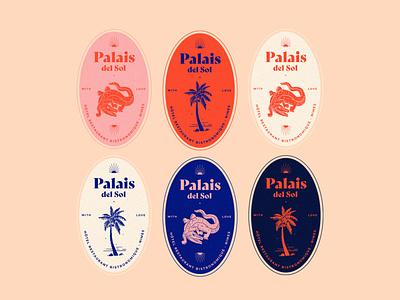 Palais Del Sol icon app ux ui vector typography logo illustration design branding