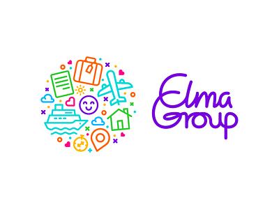ELMA GROUP's brand identity typography minimalist logo logo illustration icon graphic design design branding