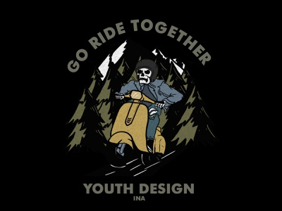 Go Ride skeleton vibe branding logo design clothing brand clothing tshirtdesign illustration customdesign