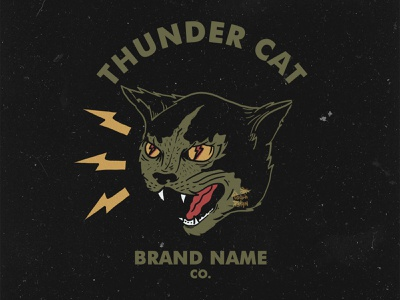 THUNDER CAT cats florida state vibe branding design clothing brand clothing tshirtdesign illustration customdesign