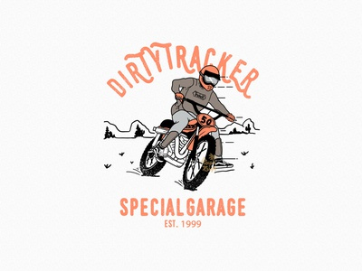 TRACKER gangmotors badgedesign design tracker vintagemotorcycles bikers clothing brand tshirtdesign illustration customdesign