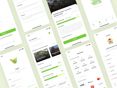 Volunty Apps green graphic design mobile logo ui illustration app branding ux minimal design
