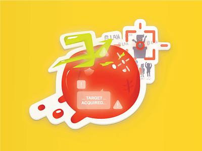 Flying tomato maga abs glow lock food tomatoe trump happy blah missile rotten thrown