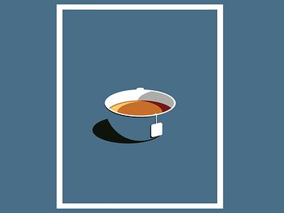 TEA comfort minimalism morning illustration artwork breakfast sugar beverage food food illustrations tea cup cup tea bag illustration art art sketch