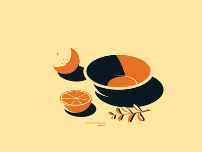 SEPTEMBER simple illustration urban art adobe illustrator minimalism digital artwork vectorillustrator orange artwork illustrator illustration art illustration digital light fruitillustration tabletop fruit oranges