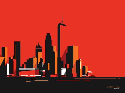 CITY flat illustration adobe illustrator adobe color digital art illustration architecture artwork building vector art vector illustration modern illustration new york art metropolitan urban city