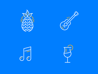 Funny icons 4 guitar pack stroke icon line drink melody