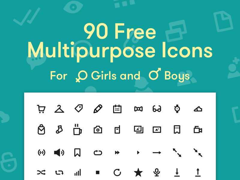 Free multipurpose icons ecommerce media social interface freebie free icon ui clean stroke