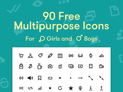 Free multipurpose icons ecommerce media social interface freebie free icon ui clean stroke