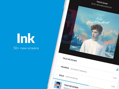 Ink Update. Coming soon recommendations music social media ux ui ink