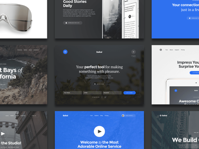 Baikal Startup UI Kit ui kit wireframe bundle mockups sale offer kit mobile web ink stack baikal