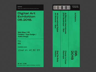 Exhibition Tickets color poster bright font design graphic type typography