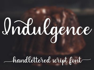 Indulgence - A handlettered script font typeface script font font design script font handlettered
