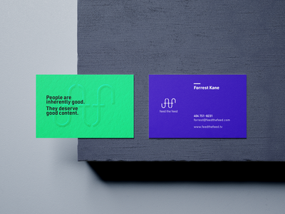 Feed The Feed Business Cards vector icon design brand brand design color logo social feed content marketing content brand identity branding design branding