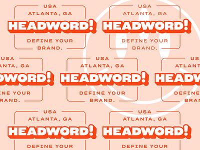 Headword! Atlanta, GA vector color logo brand identity brand design branding typography layered smiley brand define usa pattern red headword design atlanta