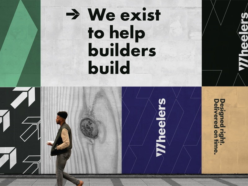 Wheelers Brand Identity brand identity design logo brand builder advertising mural wall wheelers