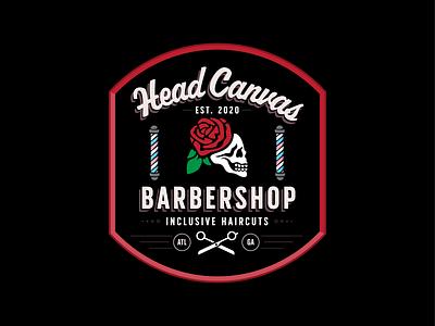 Head Canvas Barbershop lgbt trans vector brand design brand identity design branding logo barbershop canvas head georgia atlanta
