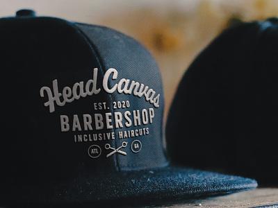Head Canvas Barbershop Hats brand design brand identity brand logo branding black swag lgbtqa barbershop shop barber merchandise merch hats canvas head