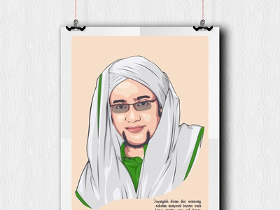 Vector Vexel Art - Habib Hasan bin Ja'far Assegaf habib vexel art vector illustration vector art