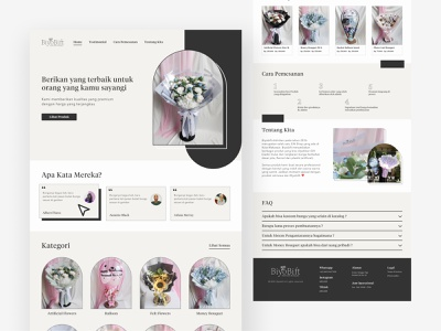 Florist Landing Page - Catalog Website app flower web design landing page ux ui flowershop design minimalism webdesign home page landingpage florist