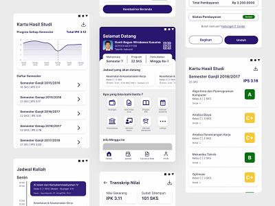 Education App - myStudentUMM clean college app ux ui uiux course education app student app crm campus app university student mobile app app