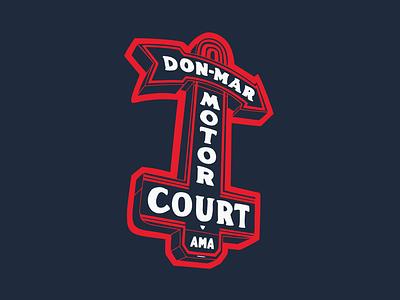 Don-Mar Motor Court hand-drawn illustration austin south congress