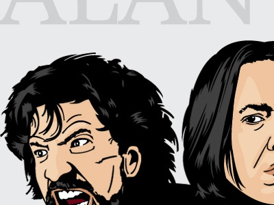 The Many Faces Of... Take 3 illustration vector design alan rickman