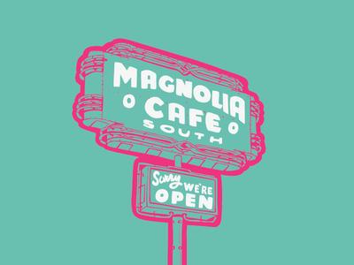 Magnolia Cafe Sign