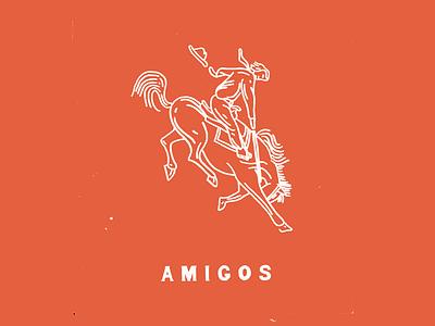 Amigos branding lettering hand drawn