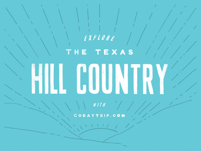 Hill Country daytrip branding lettering hand drawn