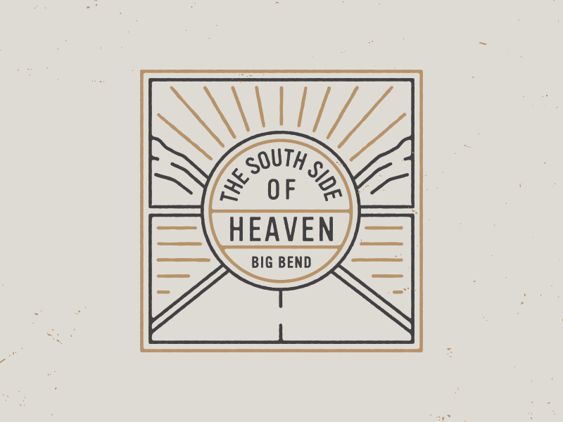 South Side of Heaven big bend lettering hand-drawn branding