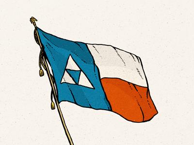Texas Triforce illustration hand-drawn triforce texas paravel