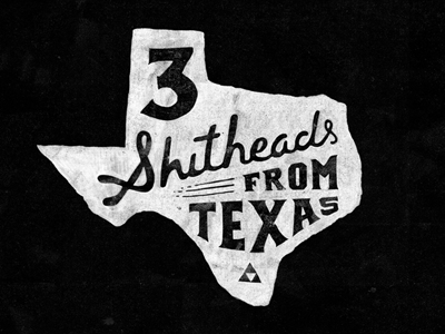 Paravel in a nutshell illustration hand-drawn lettering type texture texas