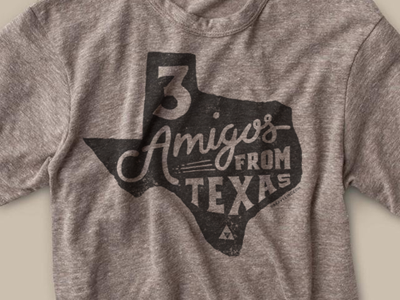 3 Amigos From Texas illustration hand-drawn lettering type texas