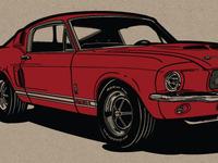 Mustang Illustration