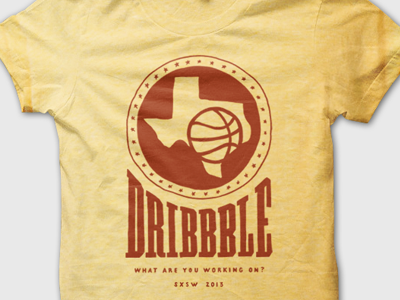 Dribbblin' In Texas dribbble texas sxsw lettering hand-drawn