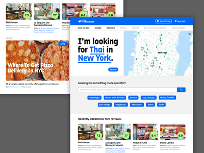 Daily UI :: 003 redesign ui landingpage website design dailyui restaurant