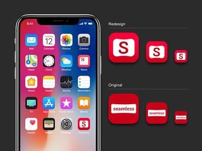 Daily UI :: 005 seamless ios app design logo dailyui redesign app icon