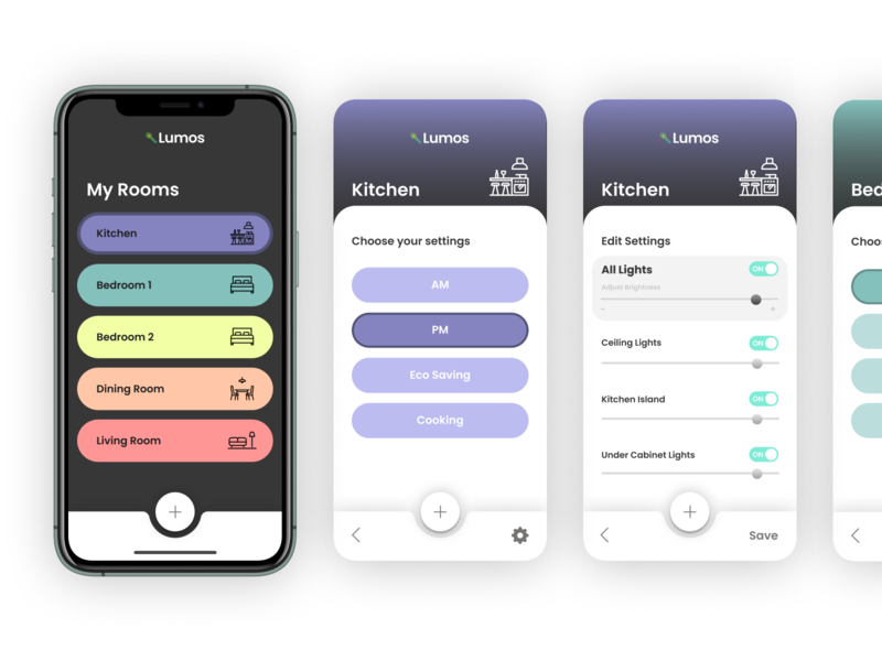 Daily UI :: 007 light app lights settings ui settings dailyui 007 mobile app ui design dailyui