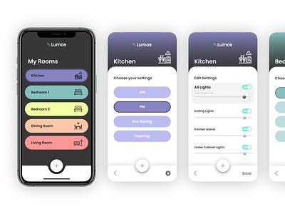 Daily UI :: 007 light app lights settings ui settings dailyui 007 mobile app ui design dailyui