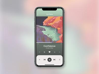 DailyUI :: 009 mobile app uidesign design ui music player music app music dailyui