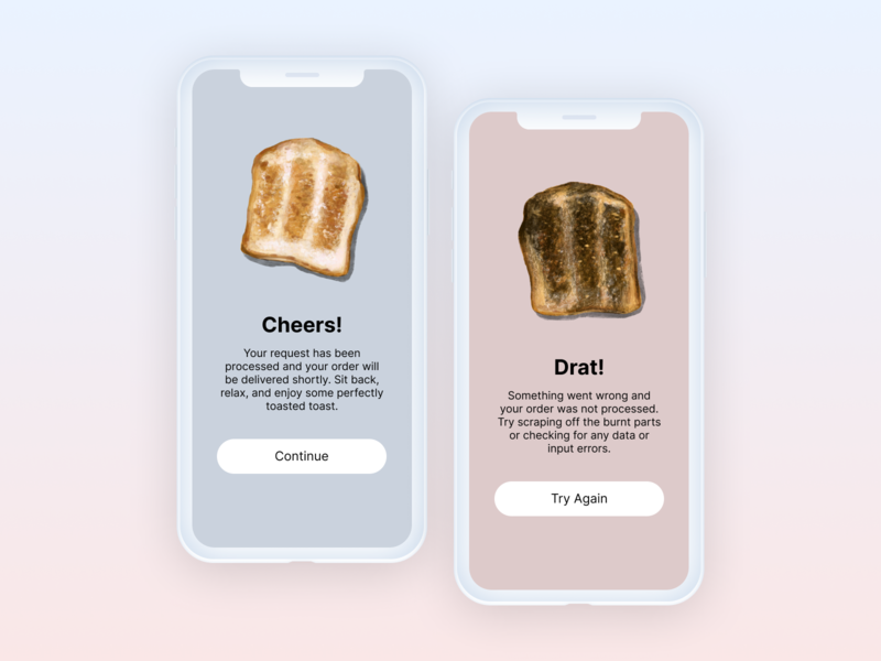 Daily UI :: 011 illustration design ui design toast error message success message flash message dailyui 010 dailyui